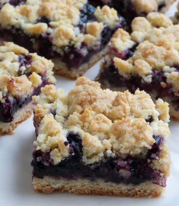 Blueberry Crumb Bars - These are so good and super simple to make. The base and crumble mix in this is universal and can be used with any type of fresh or frozen berries.