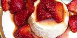 Recipe for Strawberry-Vannila Panna Cotta
