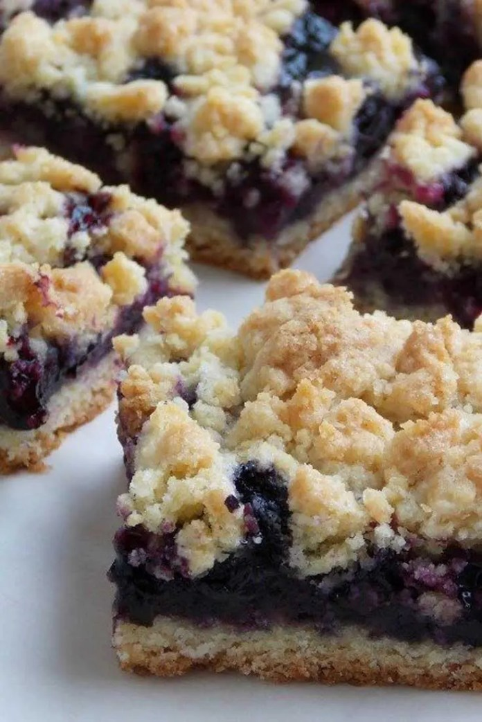 These Blueberry Crumb Barsare so good and super simple to make. The base and crumble mix in this is universal and can be used with any type of fresh or frozen berries. #blueberry #dessert #dessertbars