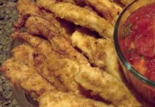 Recipe for Chicken Strips with Spicy Marinara