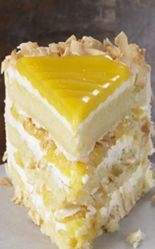 Lemon Cake With Cream Cheese Coconut Frosting