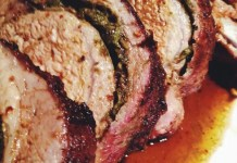 Pork Rib Roast with Parsley Pesto