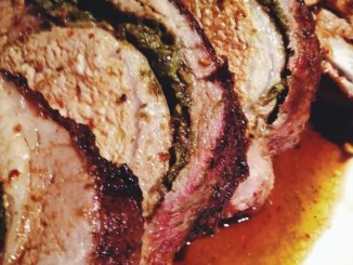 Pork Rib Roast with Parsley Pesto