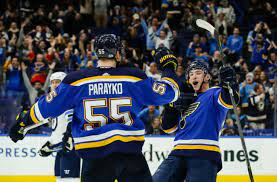Parayko, Dunn injuries add to Blues' woes, both out for Monday's 3rd Game vs Avs