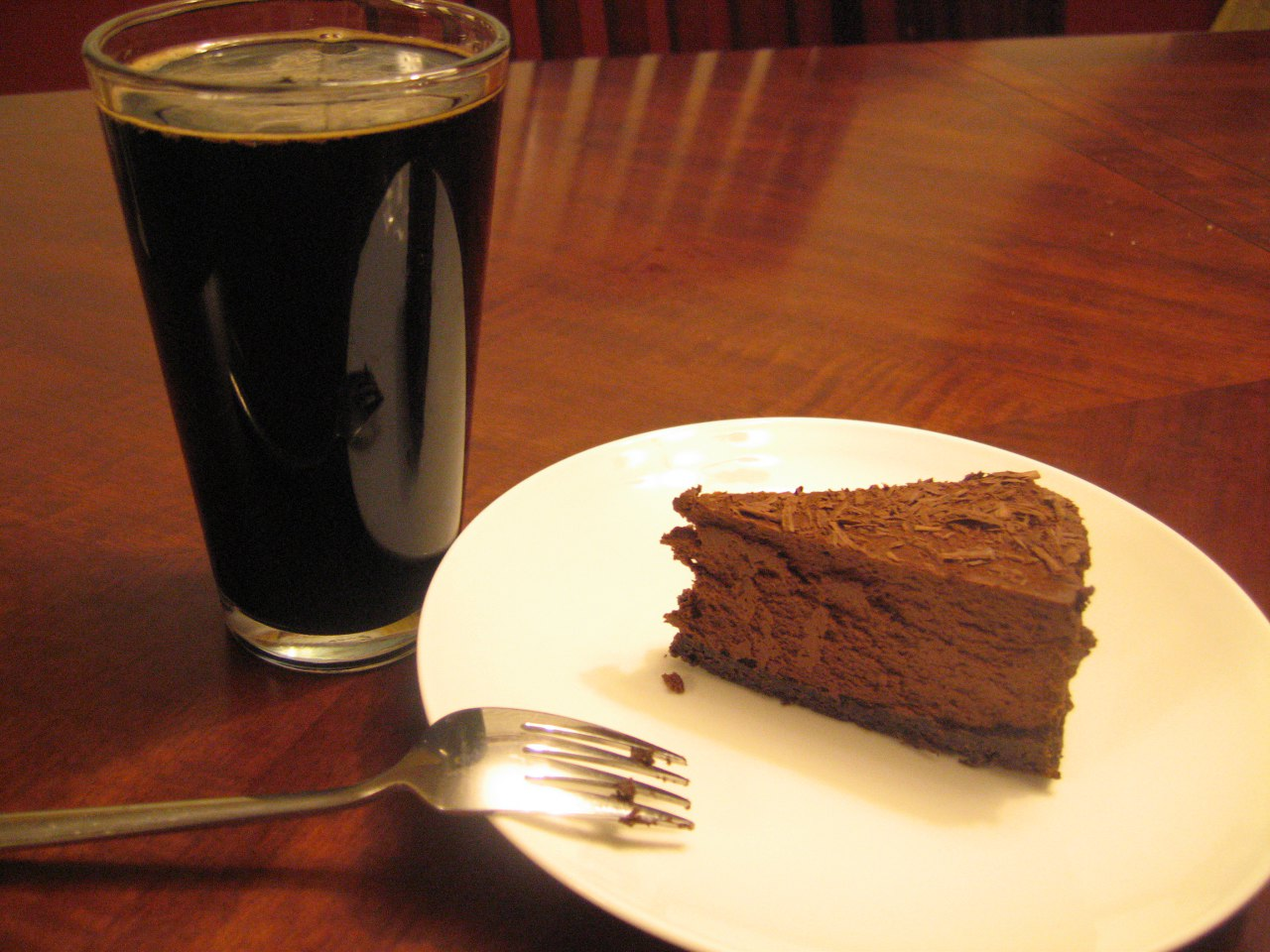 Glass of Stout and Cake