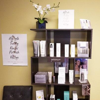 Epionce Products Shelf