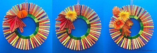 How Turn a Frisbee into a Clothes Pin Wreath–Fast!