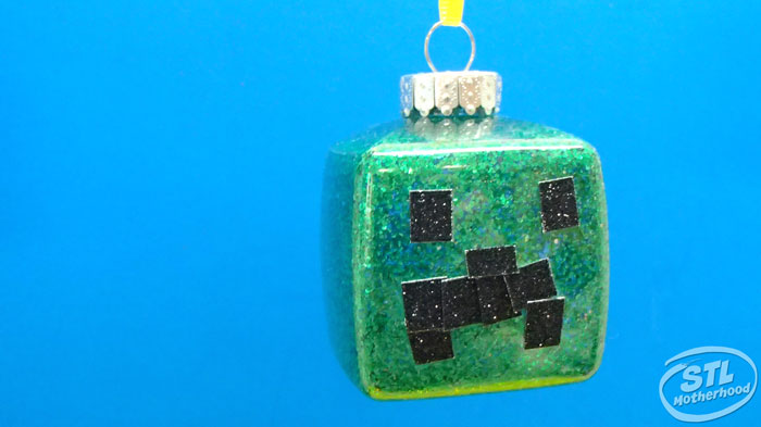 Minecraft Christmas ornament craft by my kid