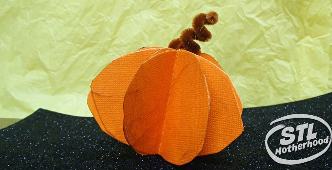 Paper Pumpkin Craft for Fall