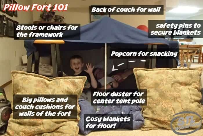 tips for an epic pillow fort