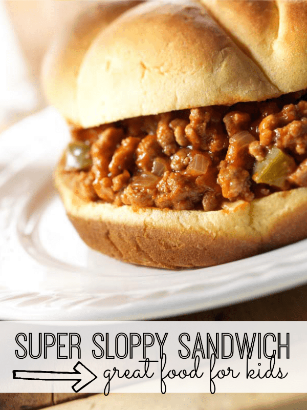Super Sloppy Sandwich Recipe for Kids