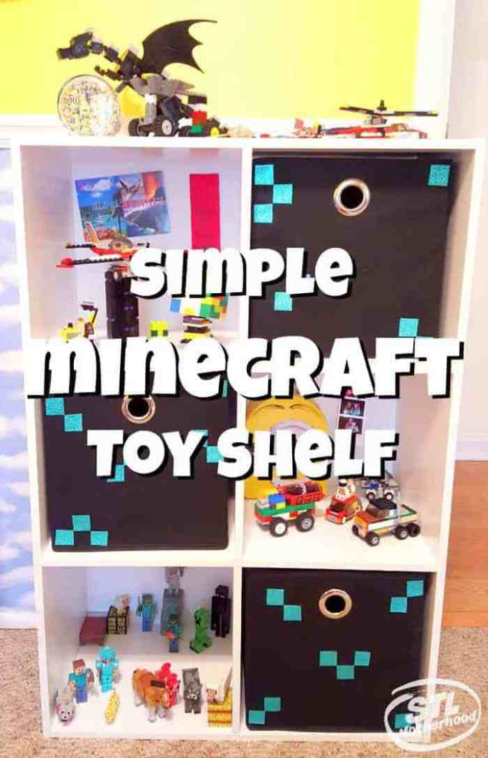 Minecraft toy shelf