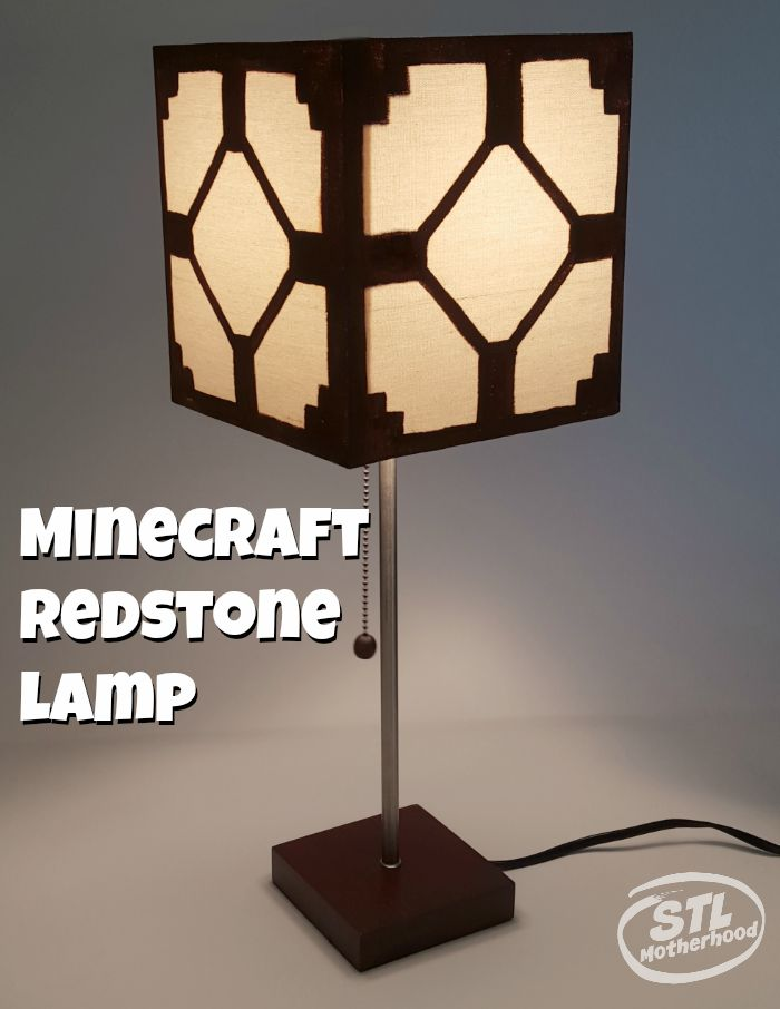 Real minecraft redstone lamp for your kids room minecraft redstone lamp aloadofball Images
