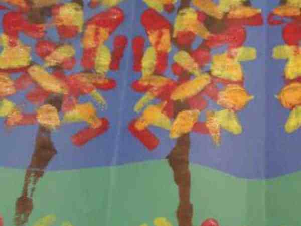 Paint a Mirror Image Forest for Fall (kids craft)