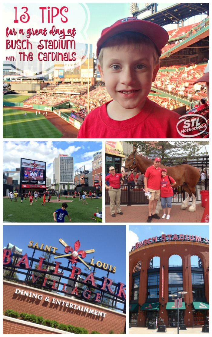 Cardinals and Busch Stadium tips for a fun trip to the ballgame with kids.