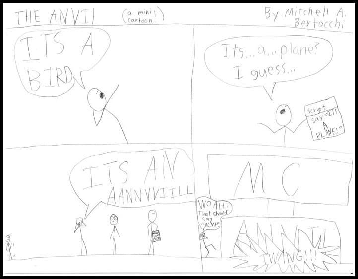 cartoons by kid artist