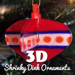 3D Shrinky Dink Ornaments