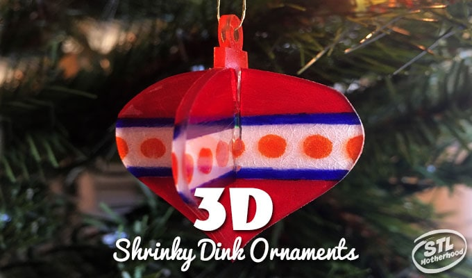 3D Shrinky Dink Christmas Ornaments (free printable)