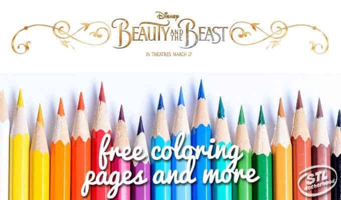 Beauty and the Beast Free Coloring Sheets and More
