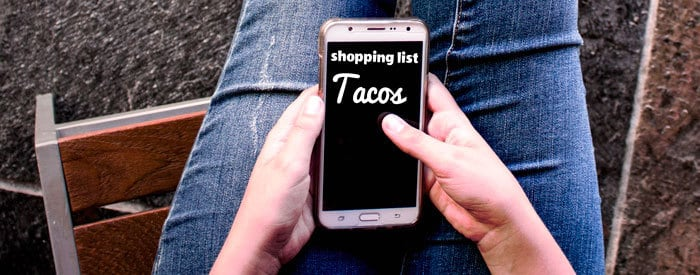 taco shopping list