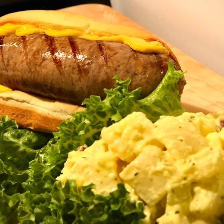 Bratwurst with potato salad