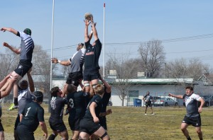 Ben Meyer reaches tall for line out