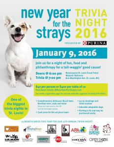 New Year For The Strays Trivia Night