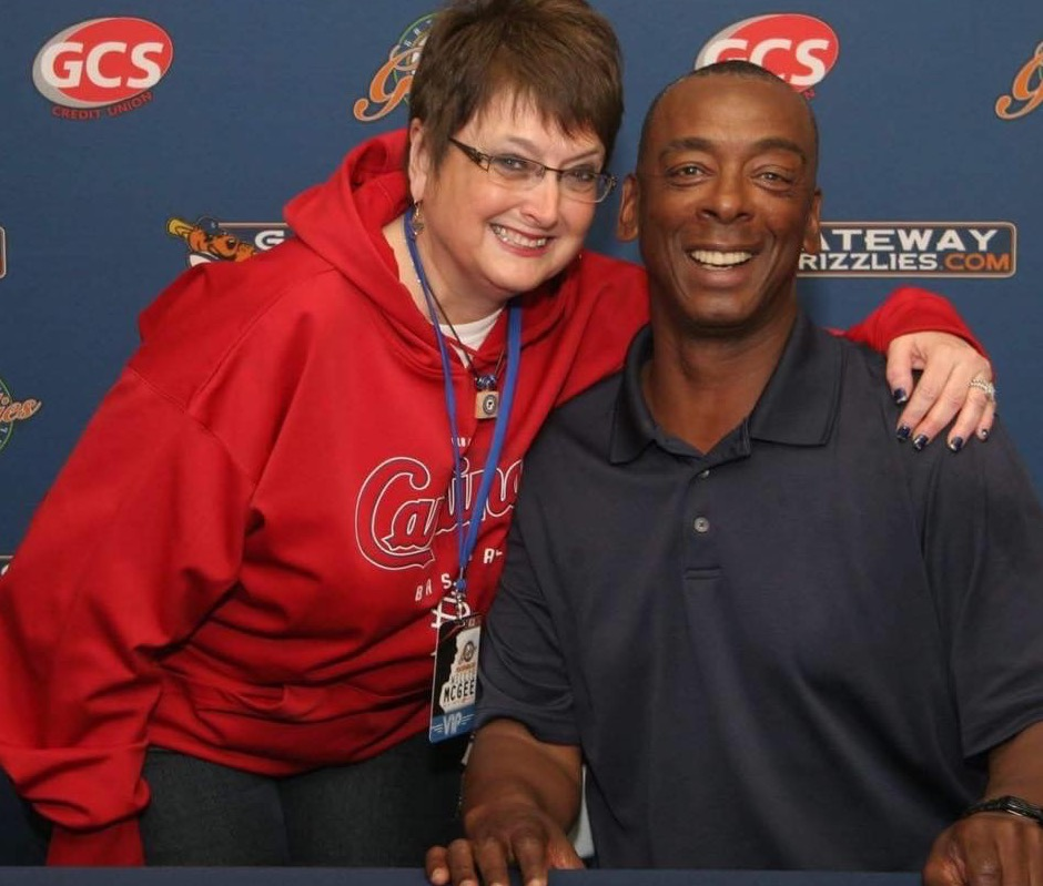 Lisa with Willie McGee