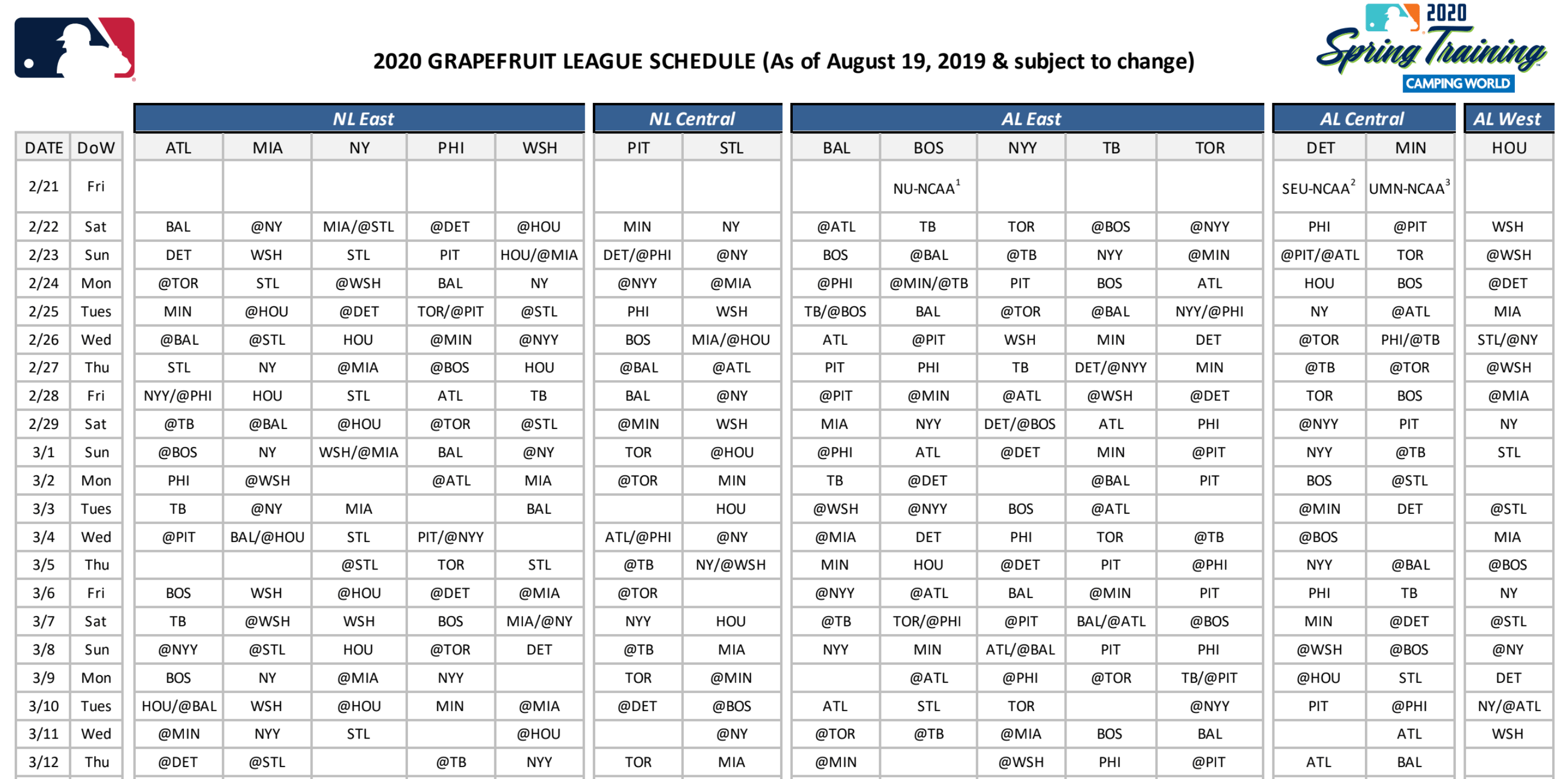 MLB Spring Training Schedule 1.png