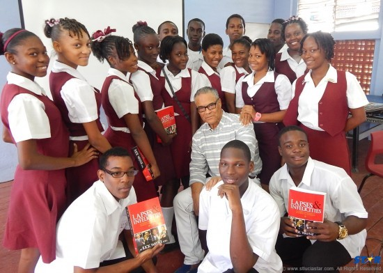 Rick Wayne:  The publisher, writer and former Mr. Universe told the story of his expulsion from St Mary's College  and adviced some 150 Vide Boutielle students always to look for the hero within them.