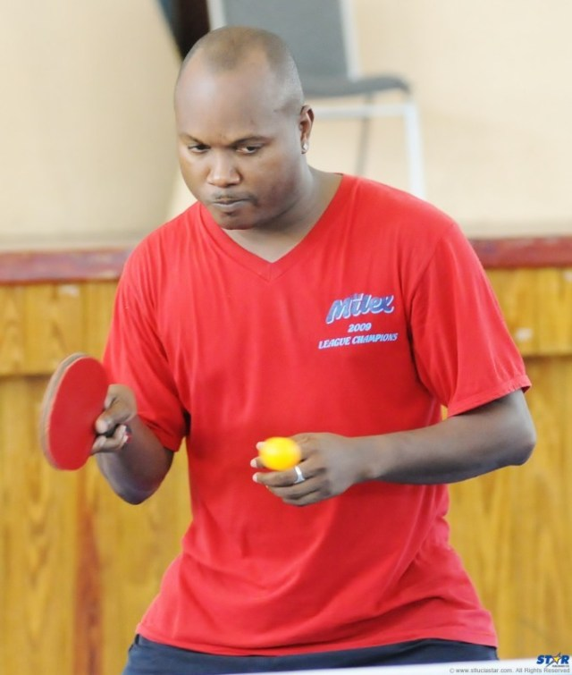 Division One winner and Independence Day Classic Table Tennis Champion Bertlan Shepherd.