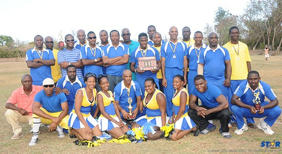 The triumphant Royal St Lucia Police Force team along with their cheerleaders.