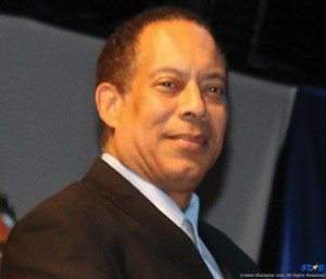 Saint Lucia's Justice Minister Victor Lacorbinere.