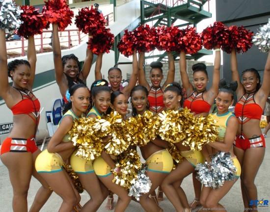 Cheerleaders at Red Steel VS Zouks game at Beausejour.