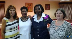 "Patron of ""women who care"" Senator Berthia Parle."