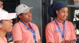 Youngest Winners (L-R)  Edna Butcher and Martha Hippolyte who were both awarded gold medals.