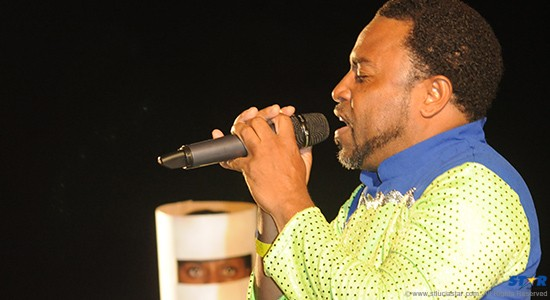 The 2015 Calypso monarch Walleigh performing at the Calypso finals.