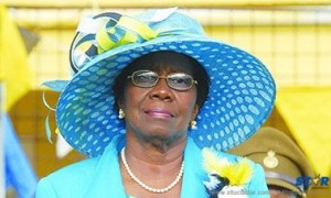 Governor General Dame Pearlette Louisy, Chairperson of the Nobel Laureate Week Committee.