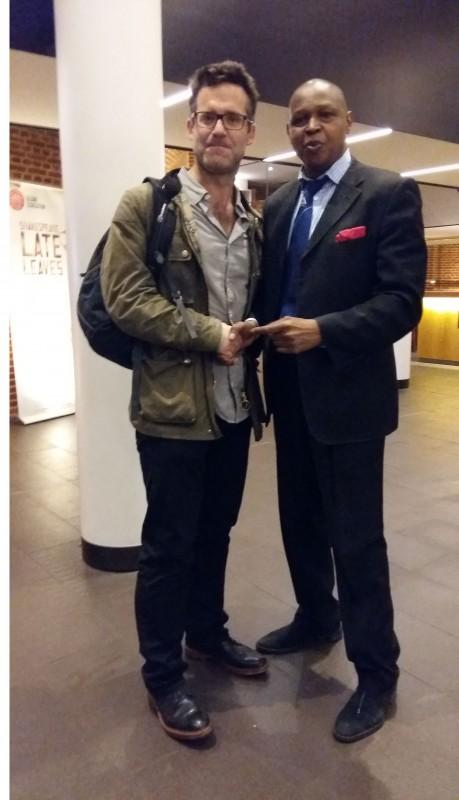 JD Douglas (R) with Director Bill Buckhurst.