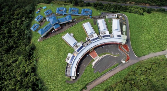 An aerial view of the new medical complex which will be officially named tomorrow.