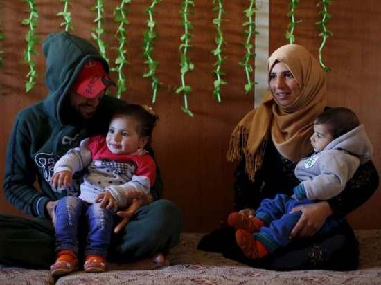 Syrian refugees in the Jordanian city of Mafraq.