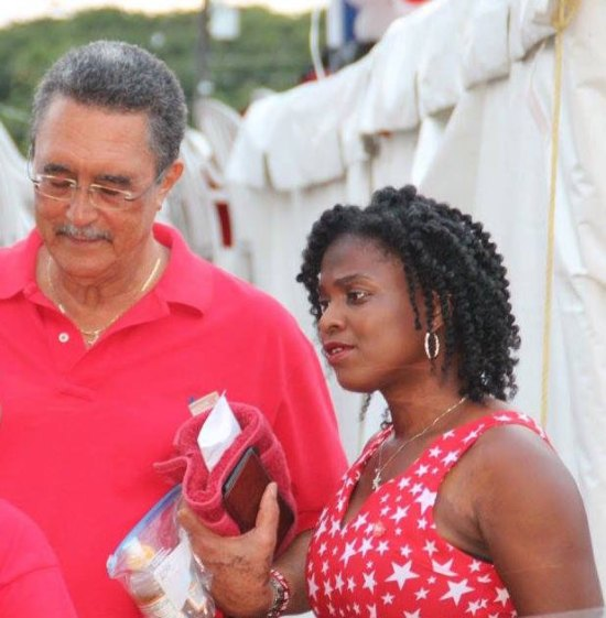 Former prime minister and SLP leader Kenny Anthony with his former press secretary Jadia Jn Pierre Emannuel.