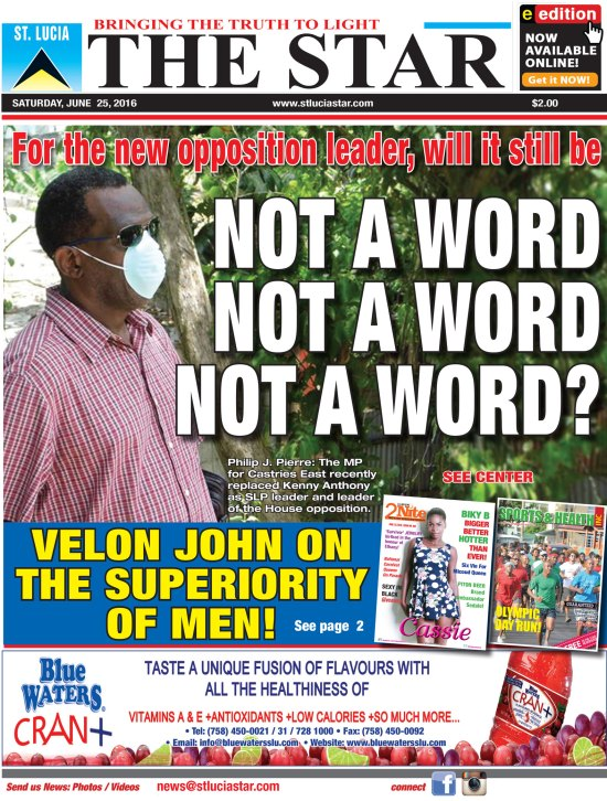 The STAR Newspaper for Saturday June 25th, 2016