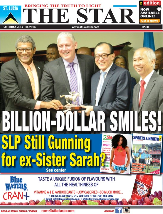 The St. Lucia STAR Newspaper for Saturday July 30th, 2016