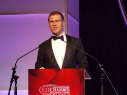 Adam Stewart at Trinidad & Tobago Chamber of Industry & Commerce annual 'Champions of Business' Awards 2016