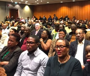 Members of the Saint Lucian Diaspora came to meet the ministers and ask questions
