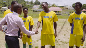 Dominic Fedee with T Vally football club