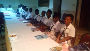 Guests of Sandals Grande St Lucian Spa and Beach Resort - Students from George Charles Secondary School