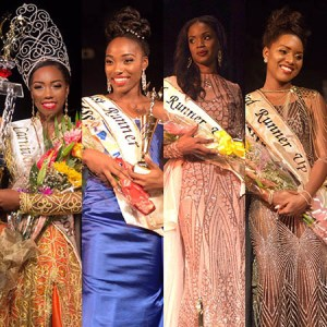 Chancy Fontenelle, Claire-Marissa Smartt, Miss Massy Stores emerged 1st Runner Up, Lisa-Marie Faustin, Miss Vybe Radio was 2nd Runner Up, Jozel Cooper, Miss Pierre Marcel emerged 3rd Runner Up