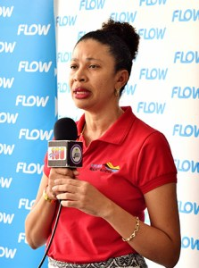 Leila Williams of Events Company Saint Lucia spoke to the partnership between Flow and ECSL #EndlessEverythingSummer #Flow